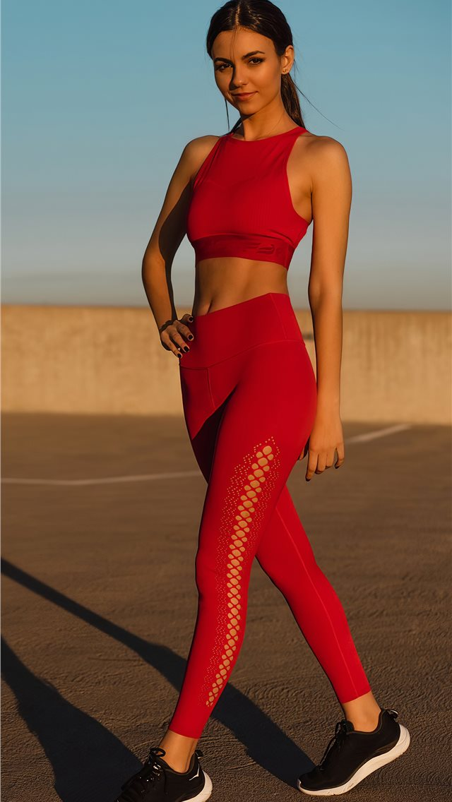 victoria justice fabletics photoshoot 2020 4k iPhone wallpaper