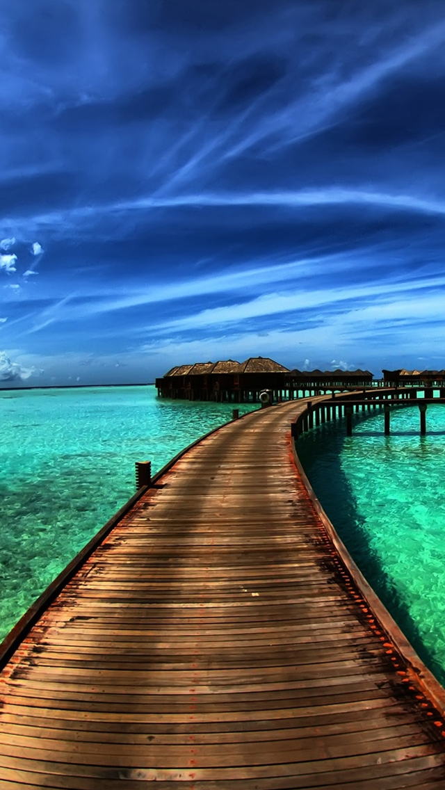 Amazing Sea Resort iPhone wallpaper