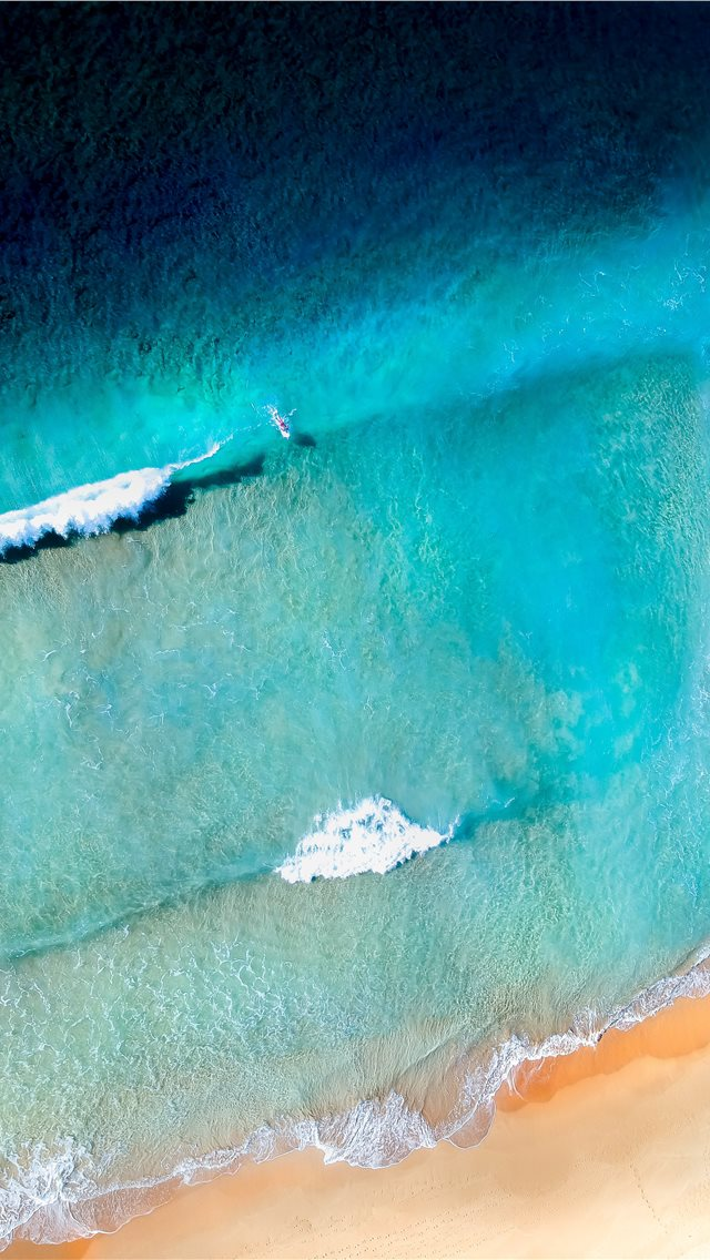 sea waves near shore iPhone wallpaper