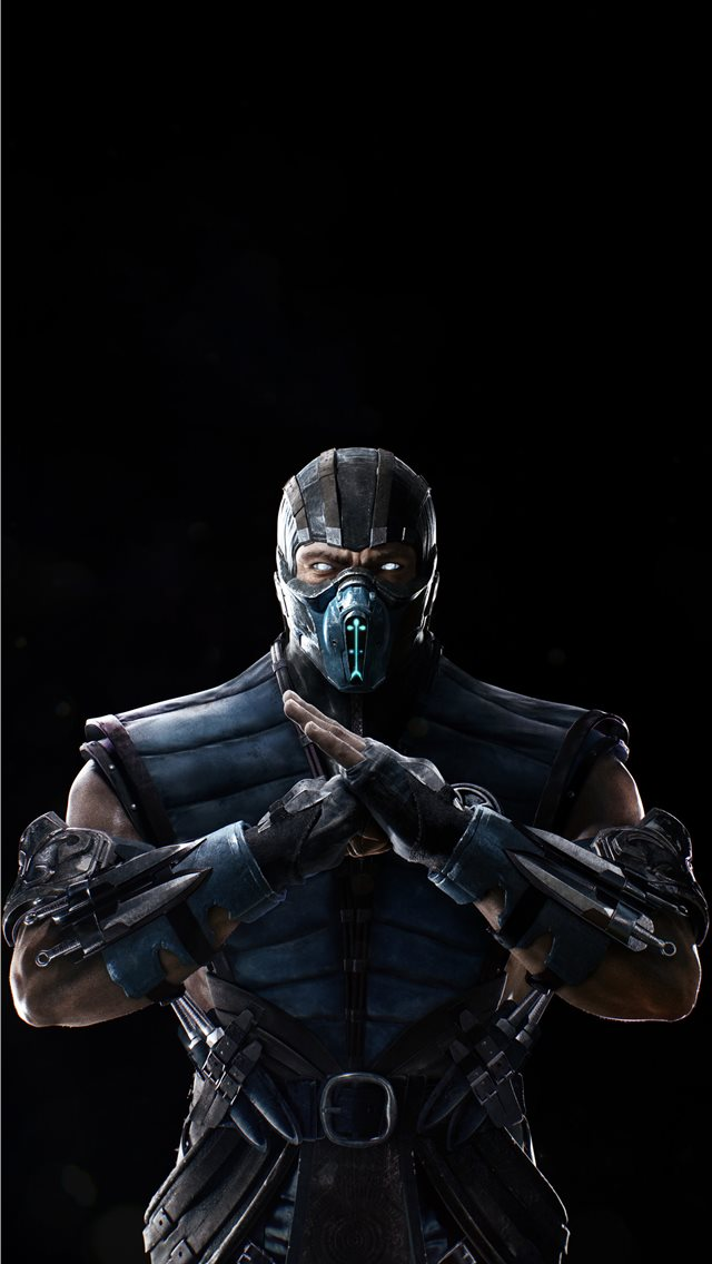 sub zero in mortal kombat 4k 2020 iPhone wallpaper