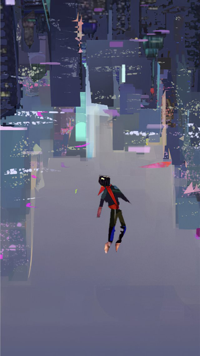 spiderman into the spider verse art 4k iPhone wallpaper