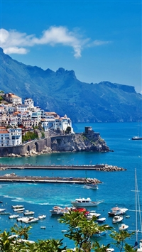 Greece Island City Landscape iPhone 5s wallpaper