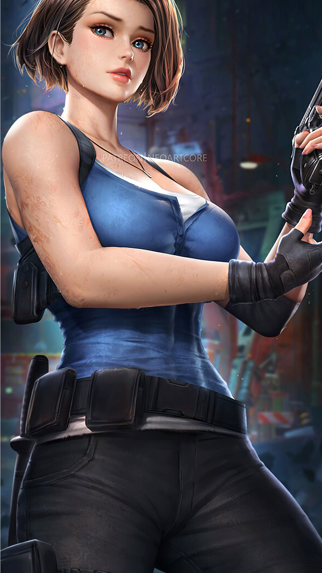 jill valentine resident evil 3 iPhone wallpaper