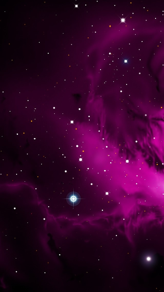 Purple Galactic Cloud iPhone wallpaper