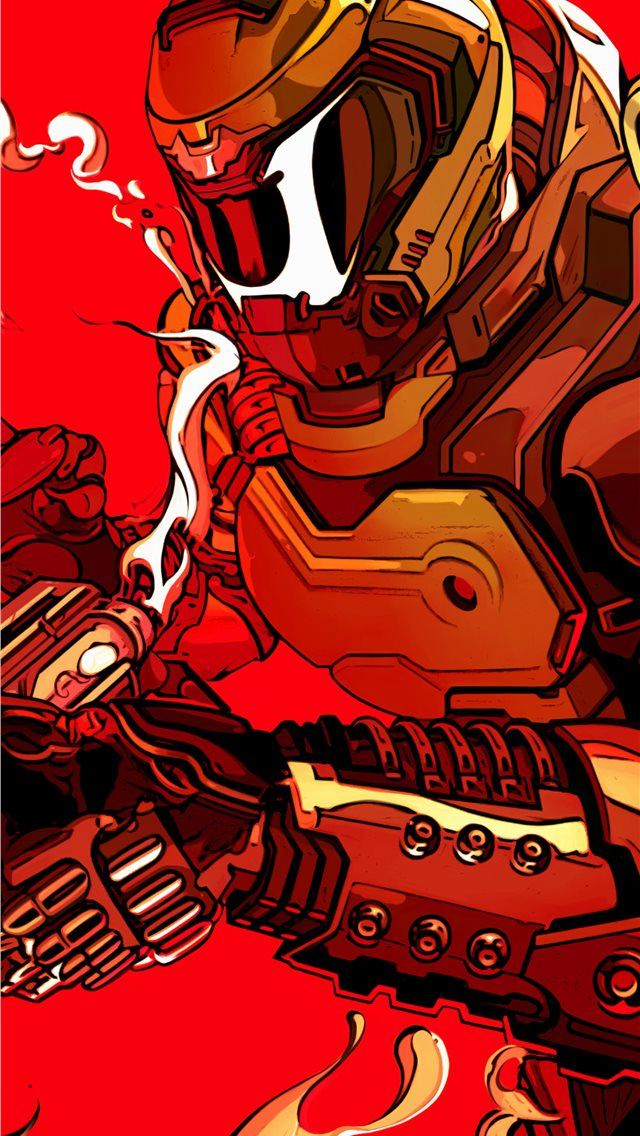 doom eternal fanart 4k iPhone wallpaper
