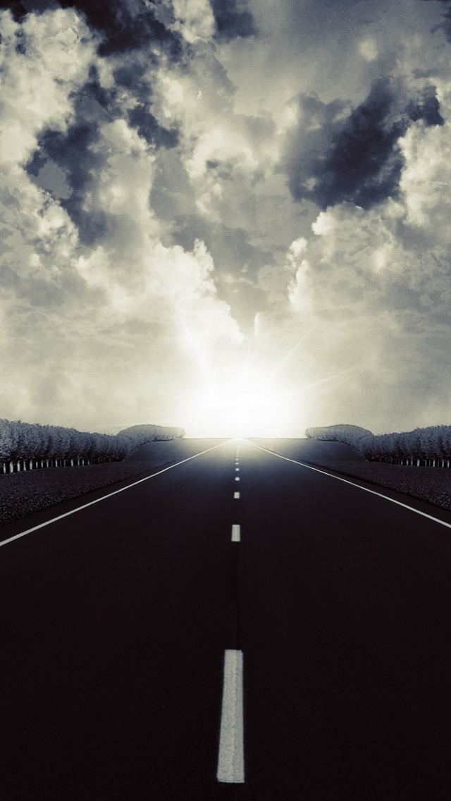 Dark Road 2 iPhone wallpaper