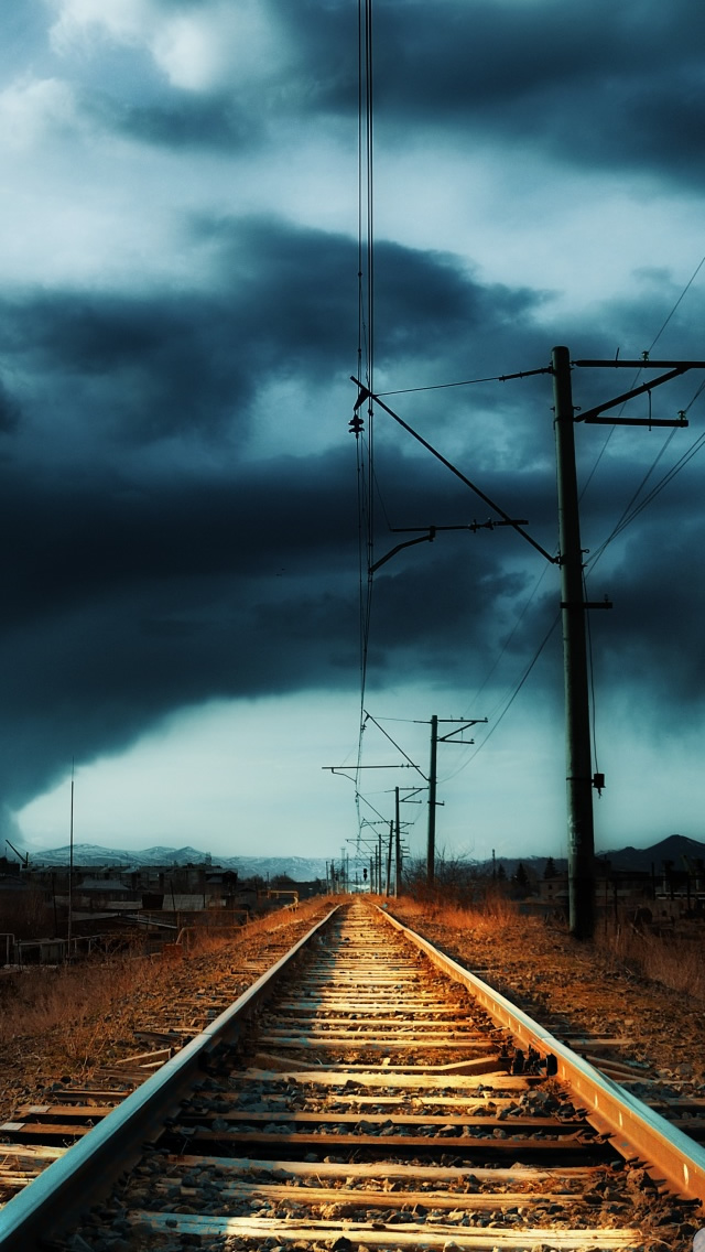 Armenia Gyumri Storm iPhone wallpaper