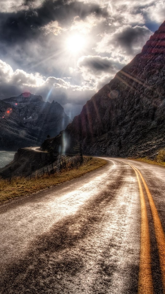 Hdr Mountain Road iPhone wallpaper