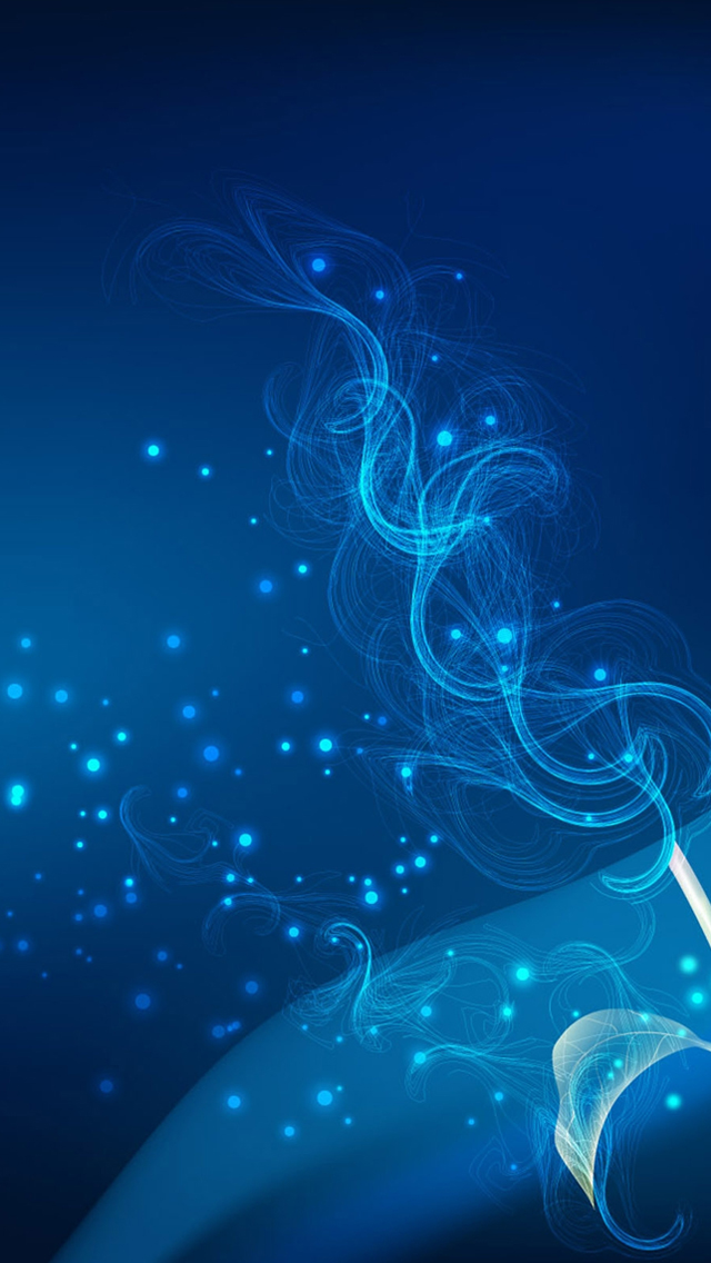 Blue Abstract Fractal Iphone Wallpapers Free Download
