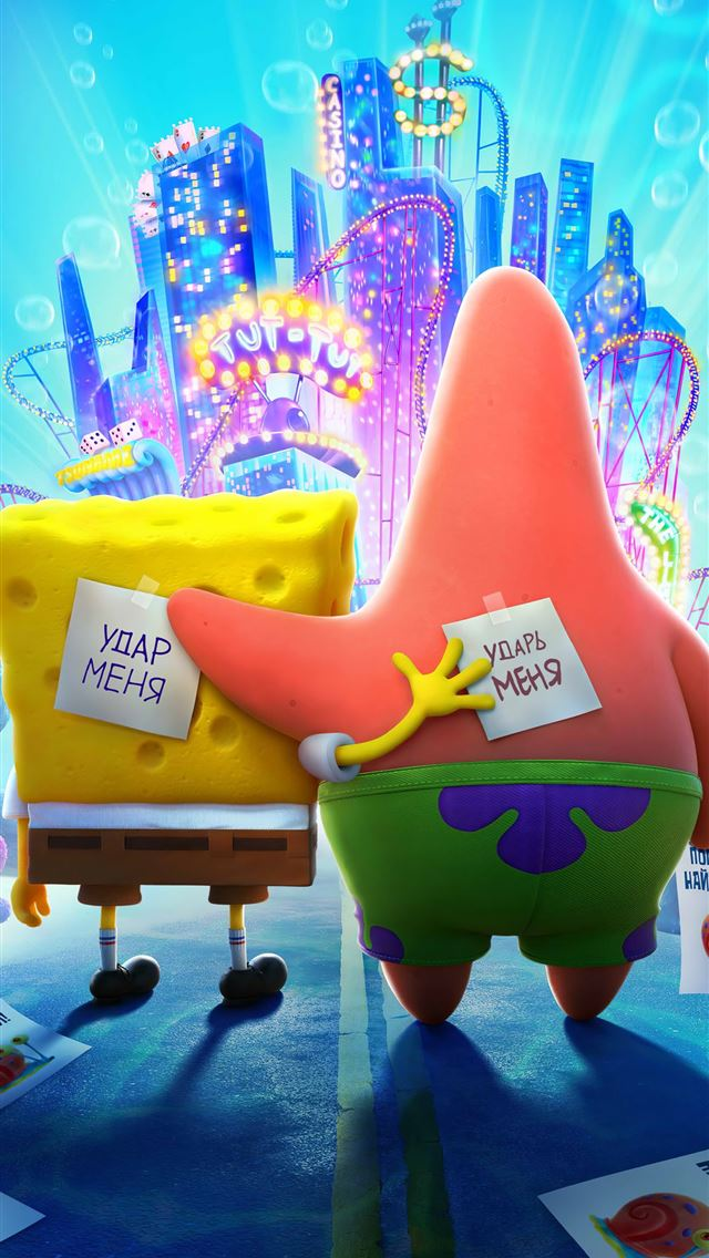 the spongebob movie sponge on the run iPhone wallpaper