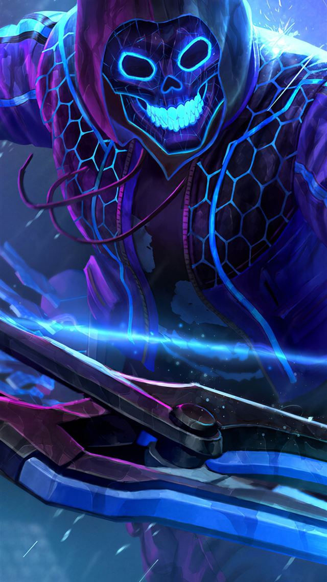 smite neon hero iPhone wallpaper