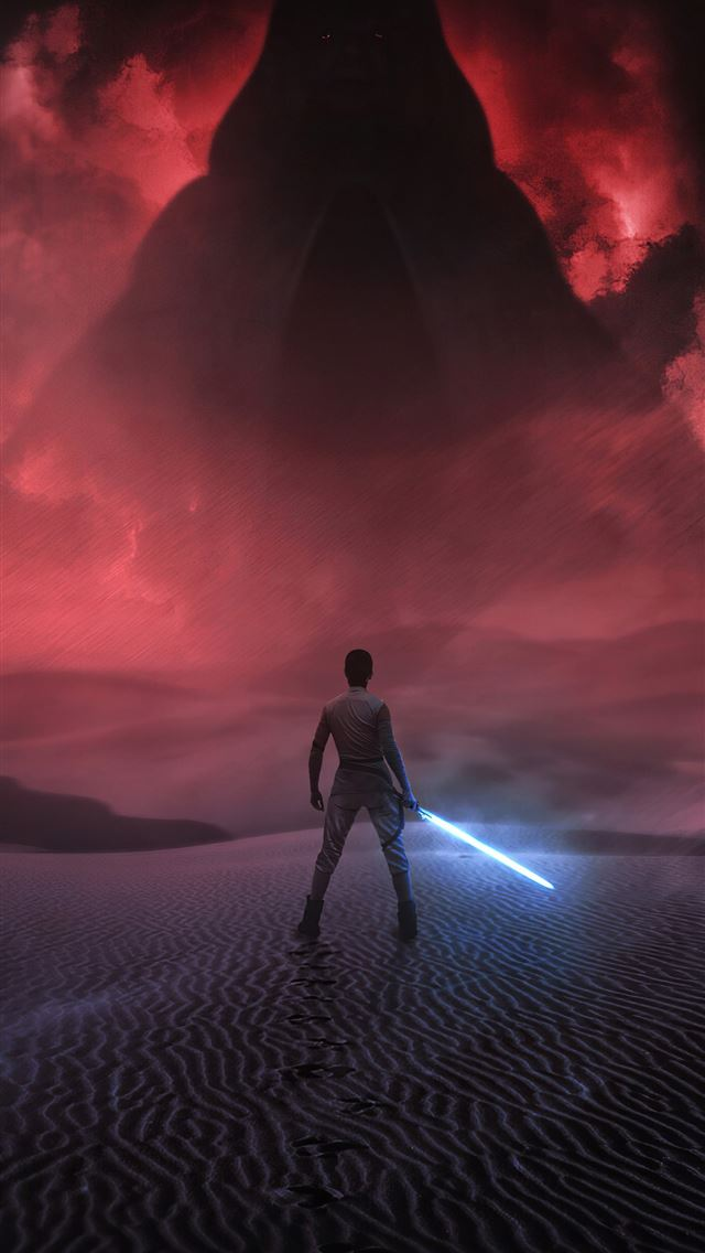 star wars the rise of skywalker 4k rey iPhone wallpaper