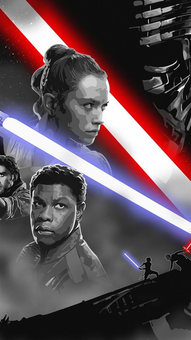star wars rise of skywalker art iPhone wallpaper