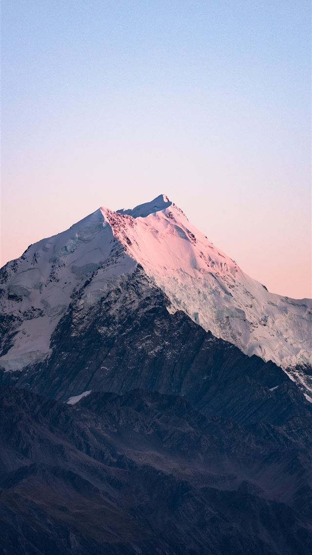 ice capped mountain at daytime iPhone wallpaper