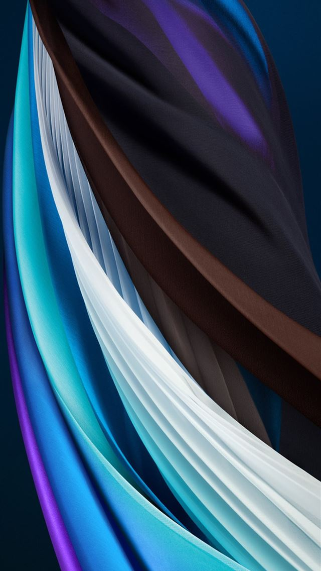 iphone se 2020 stock wallpaper Silk Blue Light iPhone wallpaper