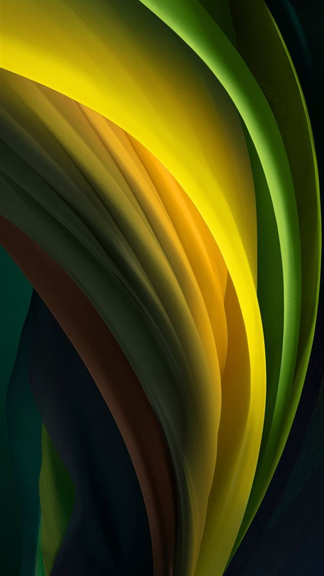 iphone se 2020 stock wallpaper Silk Green Dark iPhone wallpaper