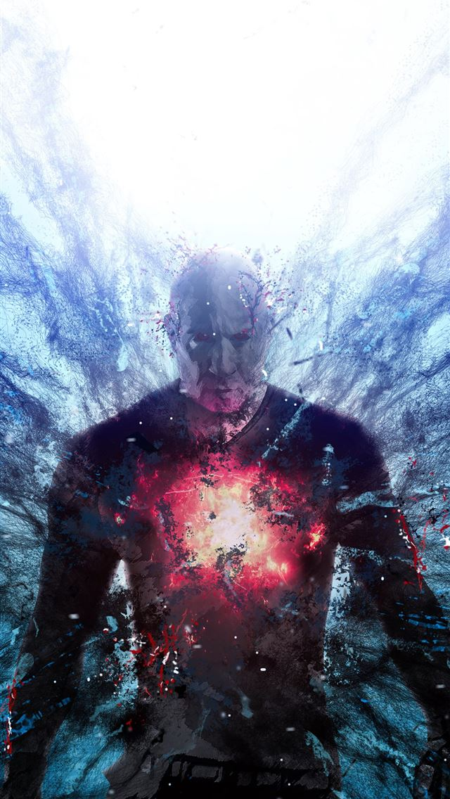bloodshot art 4k iPhone wallpaper