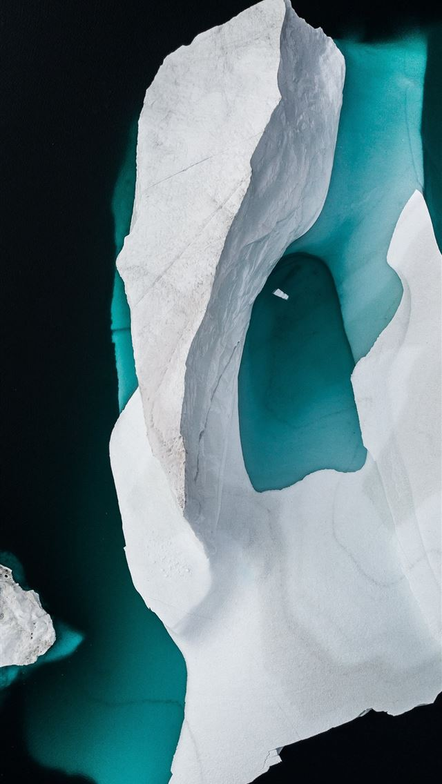 Iceberg drone photo iPhone wallpaper