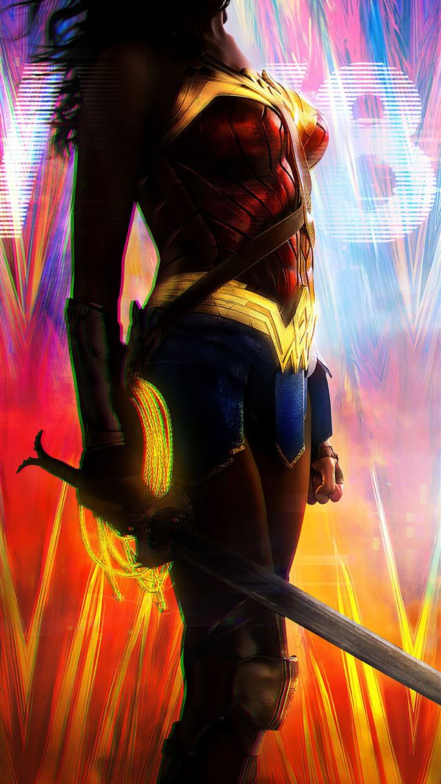 wonder woman 1984 digital art 4k iPhone wallpaper