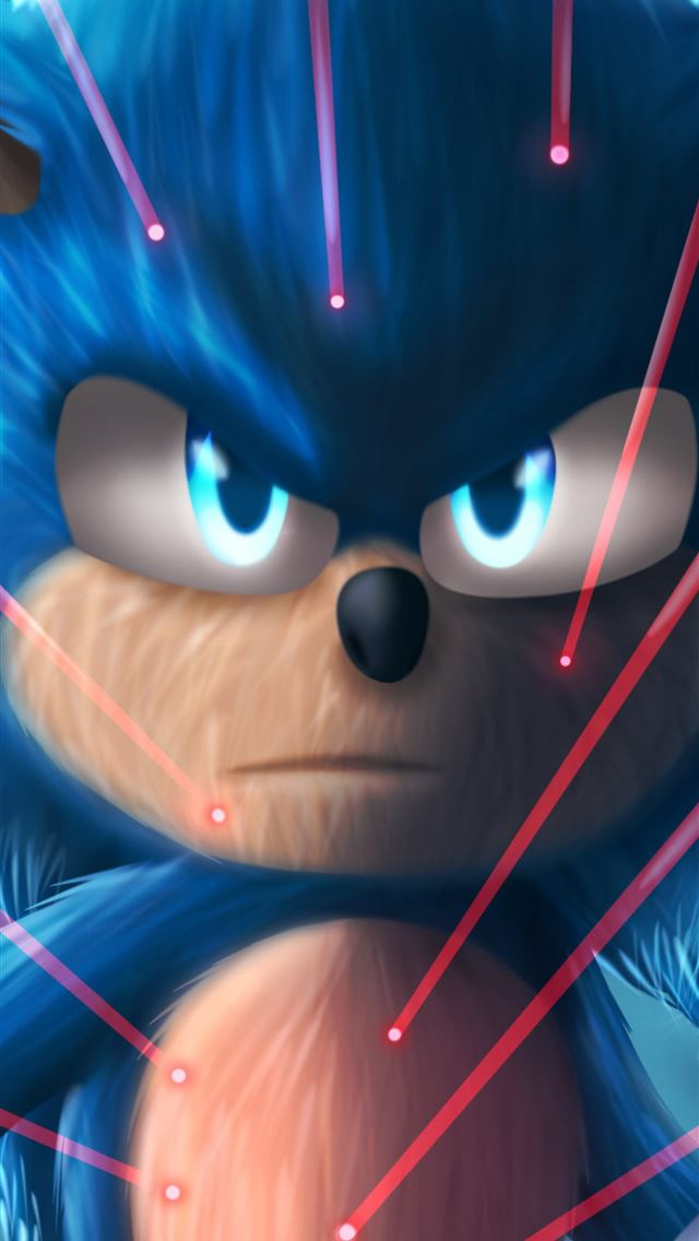 sonic the hedgehog4k art iPhone wallpaper