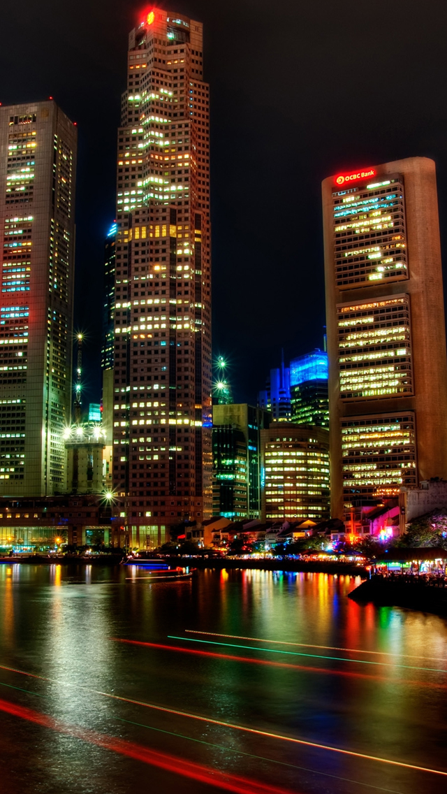 Singapore Night iPhone wallpaper