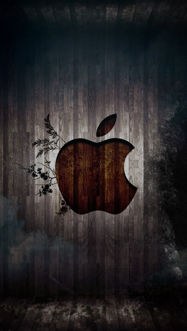 Apple in a room iPhone wallpaper