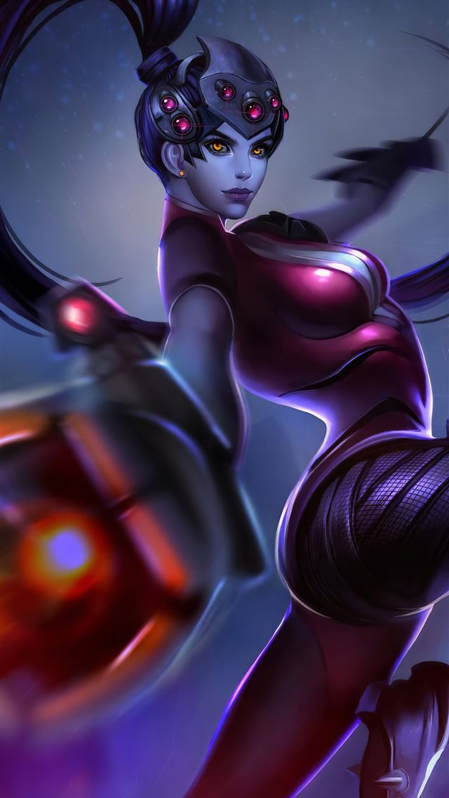 widowmaker overwatch art 4k iPhone wallpaper