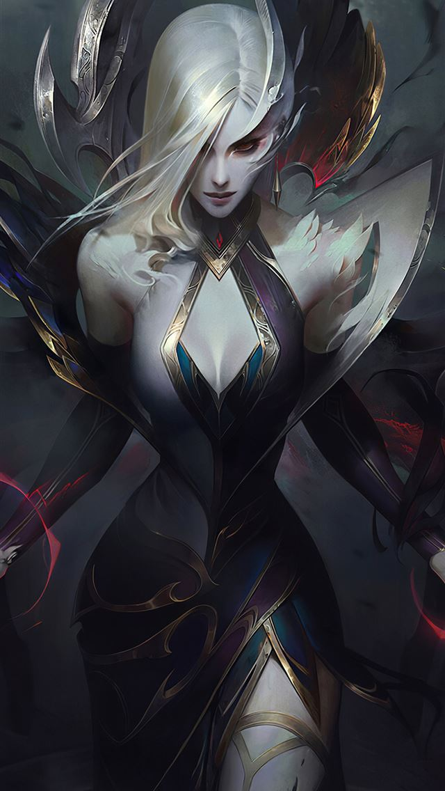 coven morgana league of legends 4k iPhone wallpaper