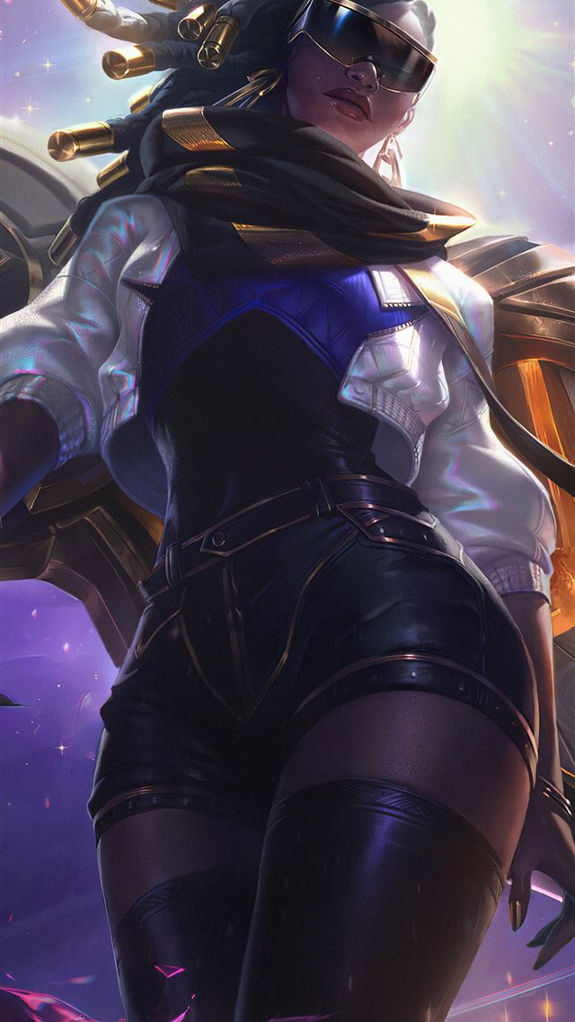 prestige true damage senna league of legends 4k iPhone wallpaper