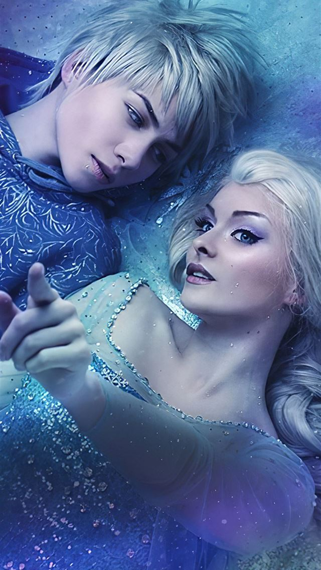 elsa and jack frost iPhone wallpaper