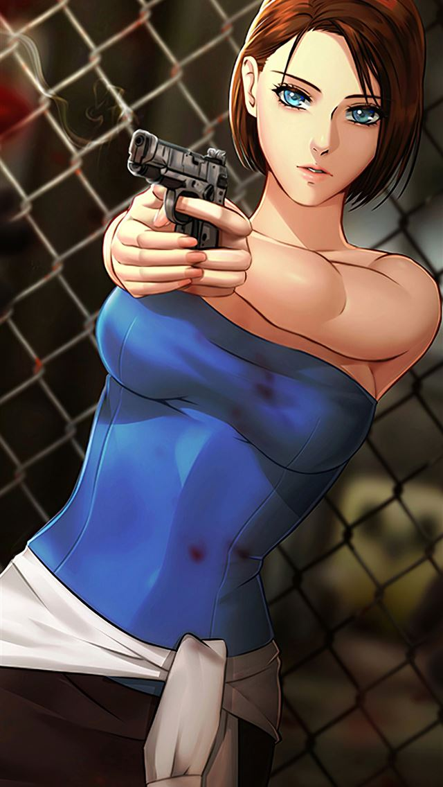 jill valentine residentevil 3 iPhone wallpaper