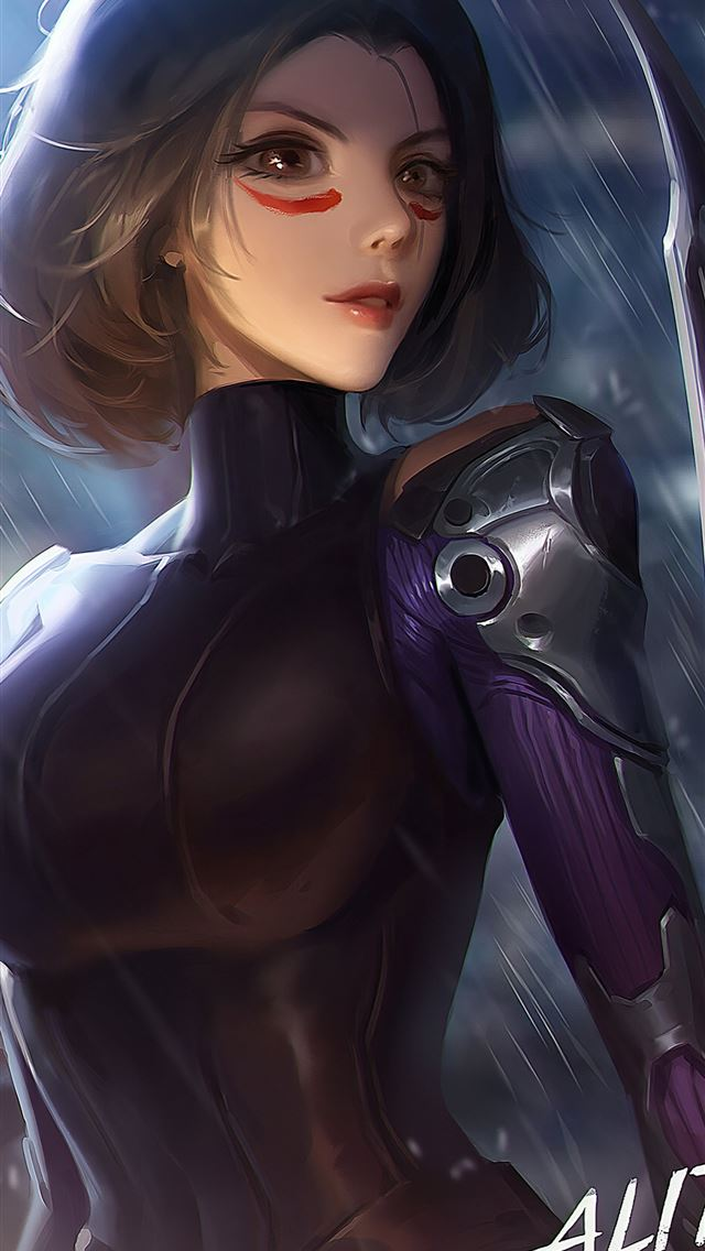alita battle angel movie art 4k iPhone wallpaper