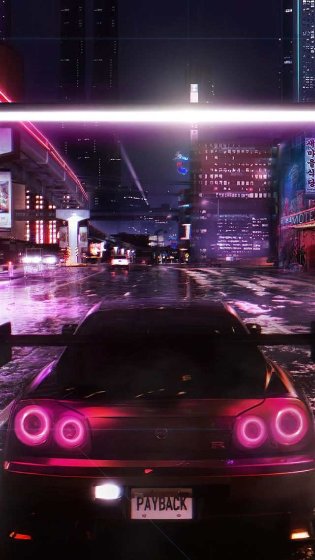 need for speed payback cyberpunk 4k iPhone wallpaper