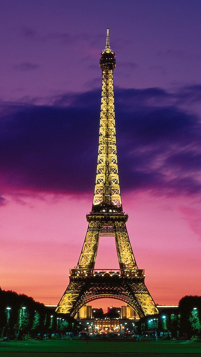 Eiffel Tower At Night Paris France Iphone Wallpapers Free Download