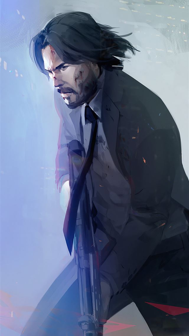 john wick 4k 2019 art iPhone wallpaper