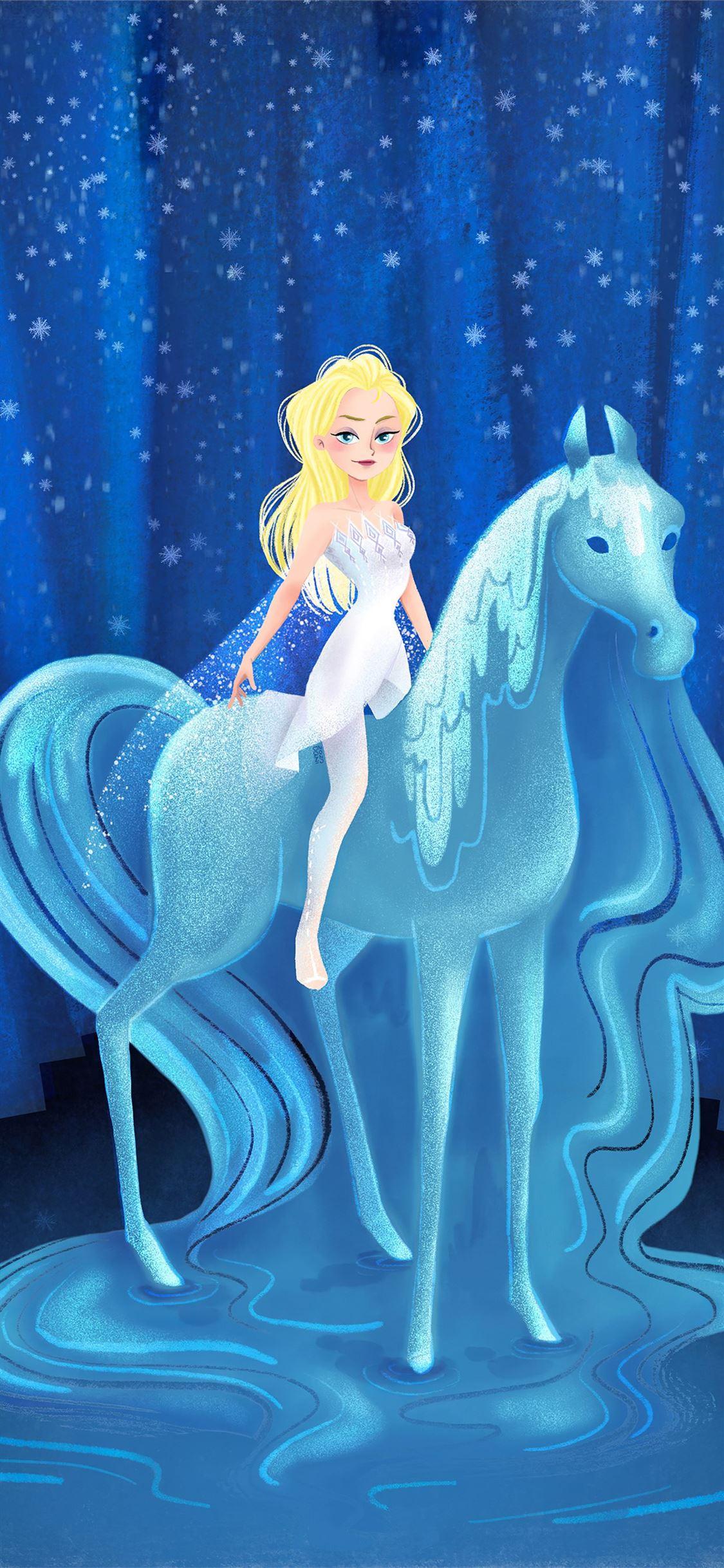 Elsa Frozen Artwork 4k Iphone X Wallpapers Free Download