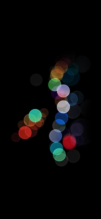 Apple Bokeh Dark Rainbow Art Illustration iPhone X wallpaper