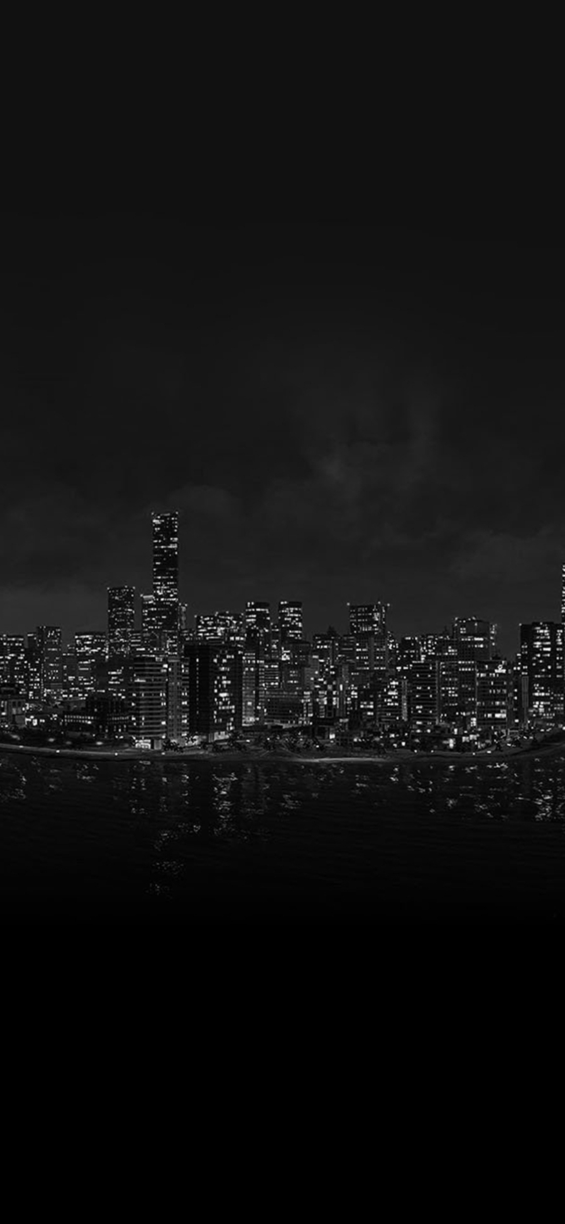 Watchdog Night City Light View From Sea Iphone X Wallpapers