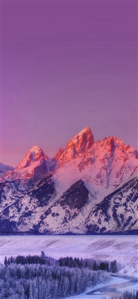 Mountain Sunset Nature Awesome Sky iPhone X wallpaper