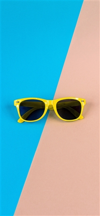 Minimal Glasses Pink Blue Yellow iPhone X wallpaper