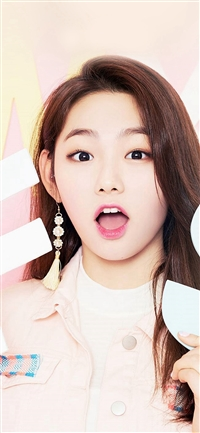 Girl Ioi Pink Cute iPhone X wallpaper