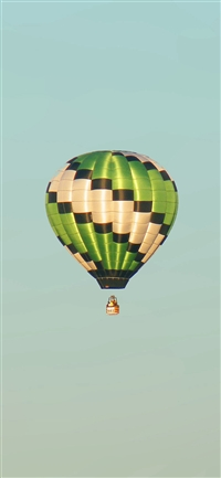 Fly Green Home Balloon iPhone X wallpaper