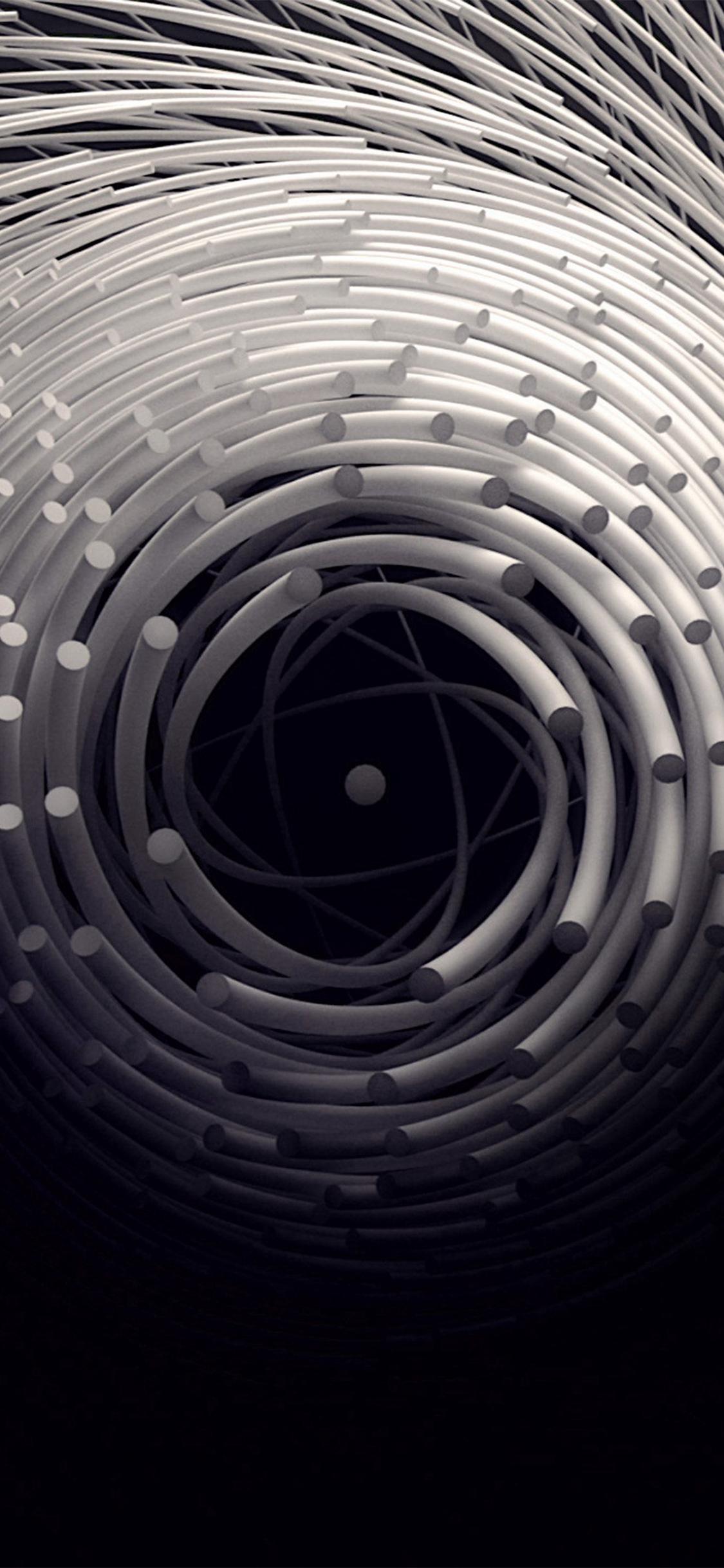 Circle 3d Dark Abstact Illustration Art Iphone X Wallpapers