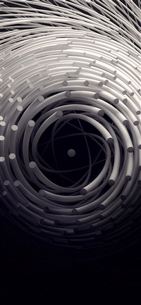 Circle 3D Dark Abstact Illustration Art iPhone X(S/Max/R) wallpaper