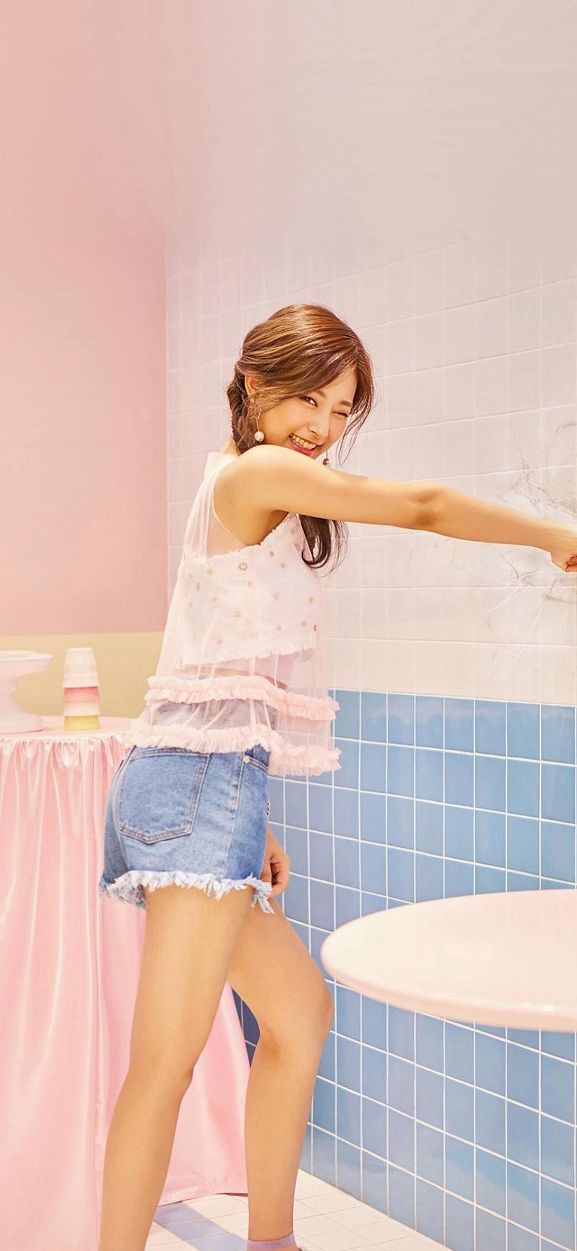 Tzuyu Kpop Twice Girl Cute Pink Iphone X Wallpapers Free