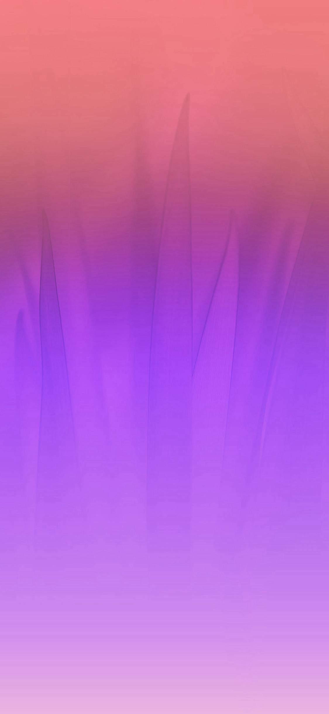 Soft Blue Nature Purple Pink Leaf Pattern Iphone X