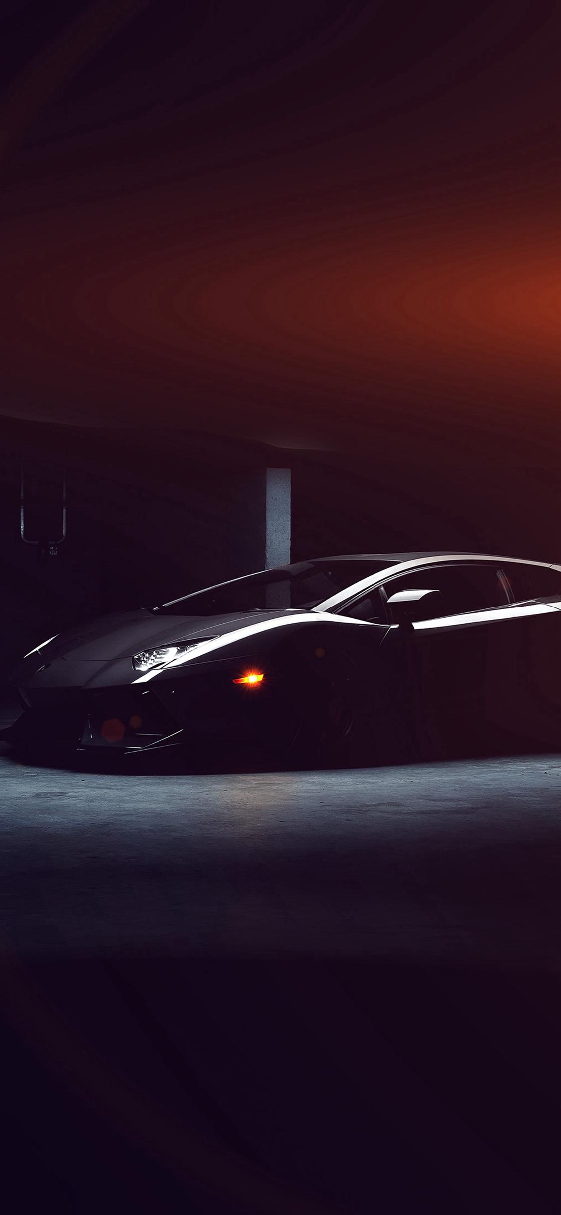 Lamborghini Car Dark Black Flare Iphone X Wallpapers Free Download