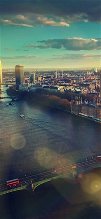 England london sky view city iPhone X wallpaper