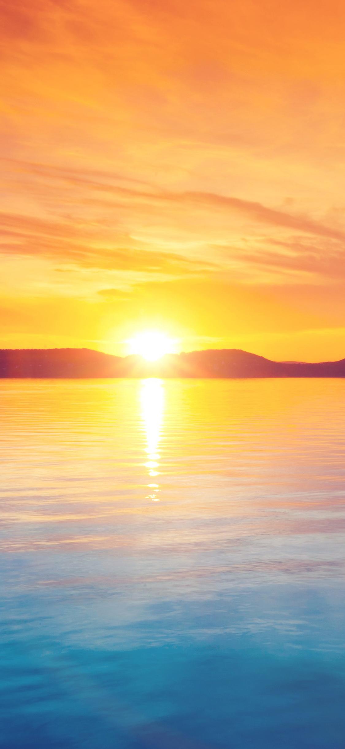 Sunset Night Lake Iphone X Wallpapers Free Download