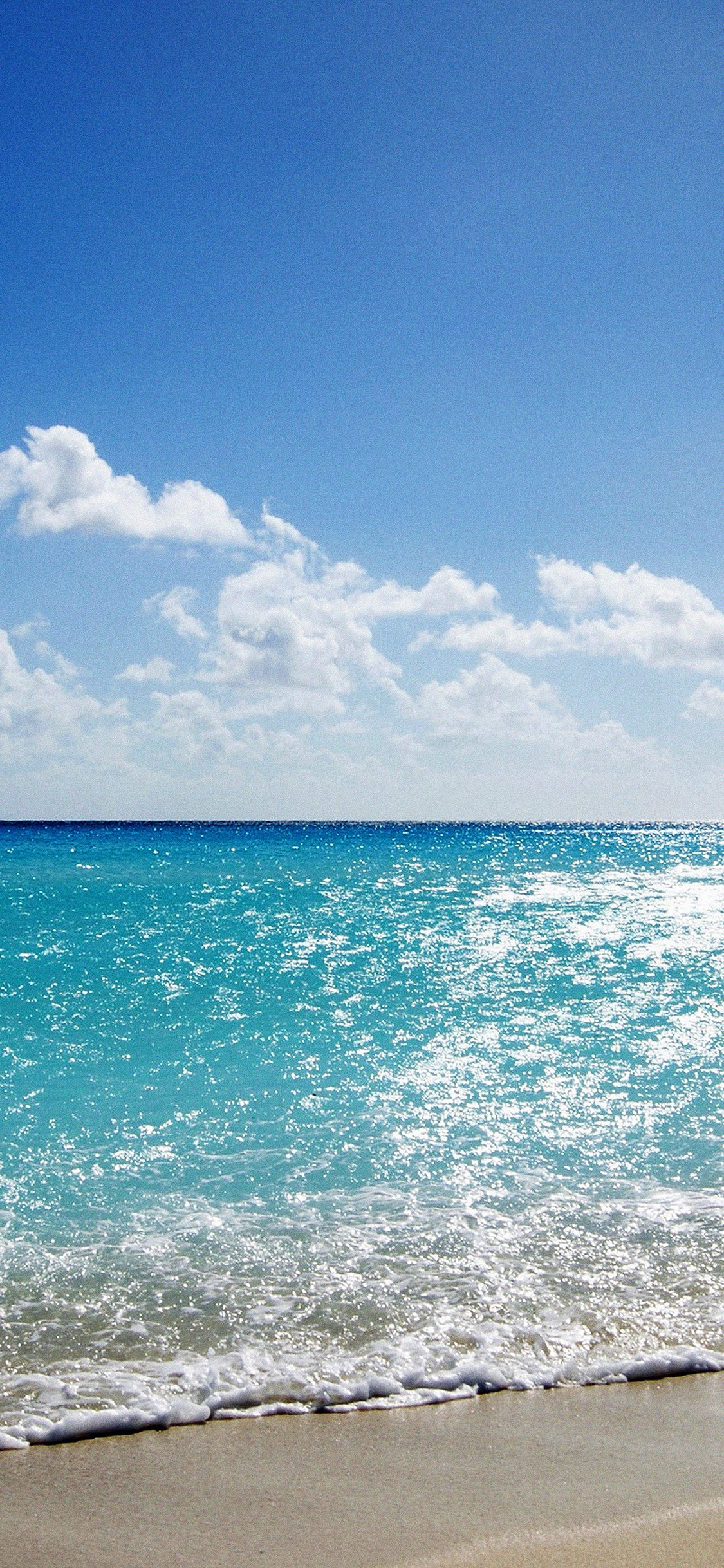 Sea Water Ocean Sky Sunny Iphone X Wallpapers Free Download